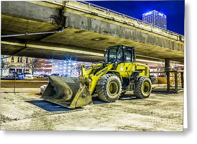 Front End Loader Greeting Cards - Construction at Rest Greeting Card by Andrew Slater