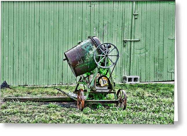 Belt Driven Greeting Cards - Construction - Cement Mixer Greeting Card by Paul Ward