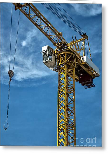 Frame House Greeting Cards - Construction Crane Asia Greeting Card by Antony McAulay