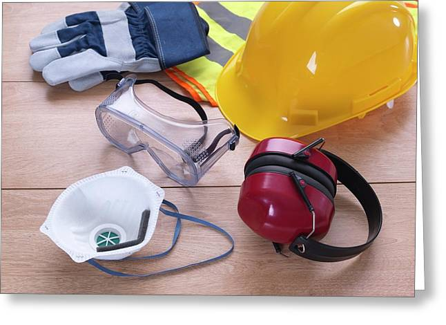 Construction Safety Equipment Greeting Card by Tek Image