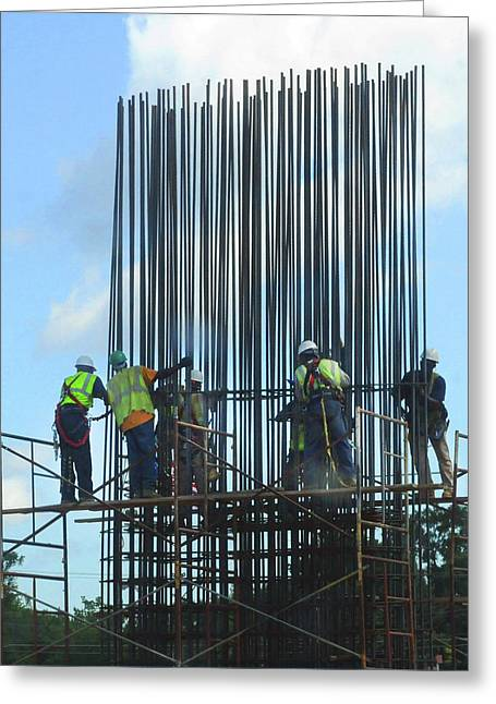 Construction4 Greeting Card by Leon Hollins III
