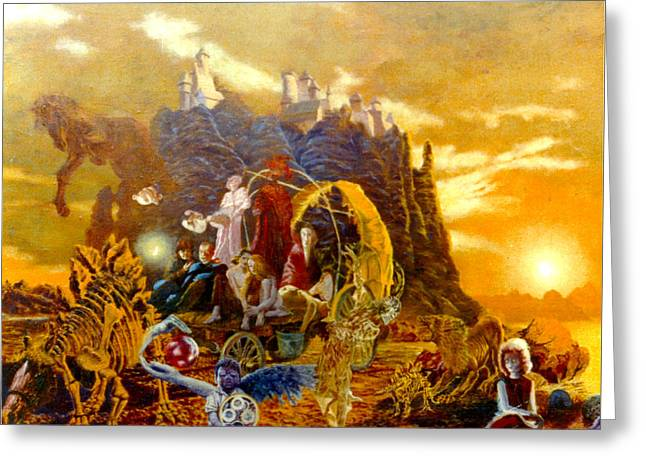 Henryk Greeting Cards - Constructors of Time Greeting Card by Henryk Gorecki