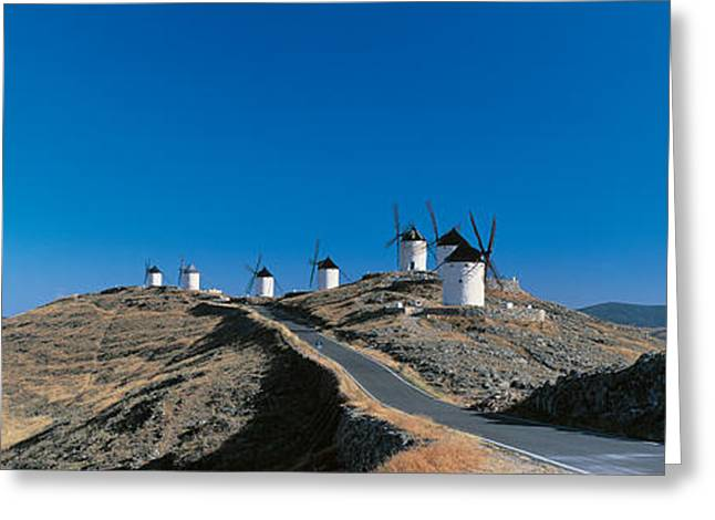 The Hills Greeting Cards - Consuegra La Mancha Spain Greeting Card by Panoramic Images