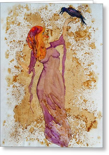 Haze Paintings Greeting Cards - Consultation Greeting Card by Beverley Harper Tinsley