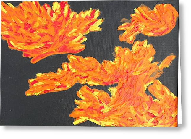 Consume Drawings Greeting Cards - Consuming Fire Greeting Card by Dayna  Lopez