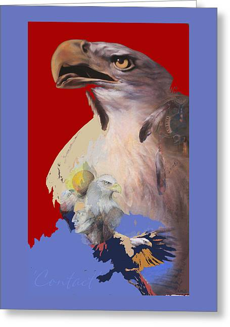 Bald Eagle Pastels Greeting Cards - Contact 3 Greeting Card by Brooks Garten Hauschild