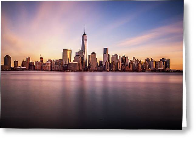 Freedom Towers Greeting Cards - Containment Greeting Card by Johnny Lam