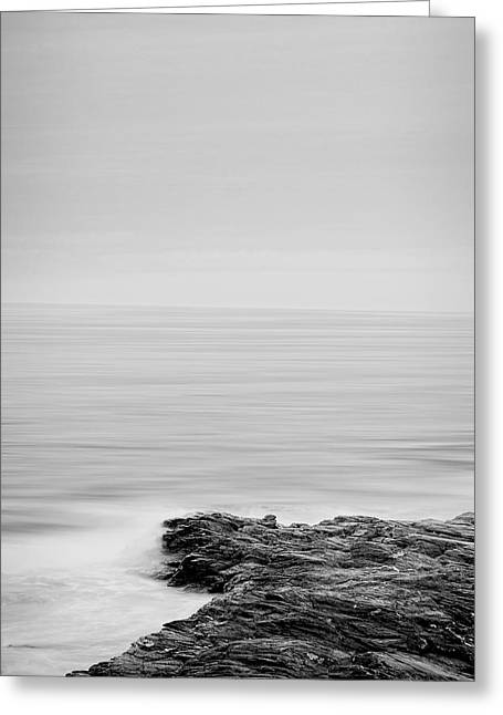 New England Ocean Greeting Cards - Contemplate Greeting Card by Lourry Legarde