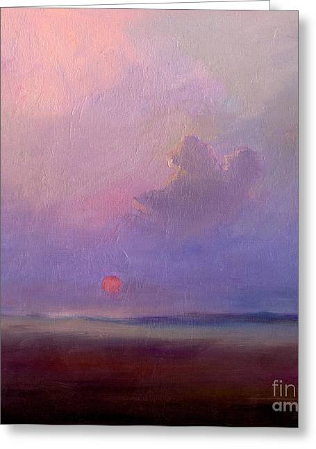 Prints For Sale Paintings Greeting Cards - Contemplation at Sunset Greeting Card by Svetlana Novikova