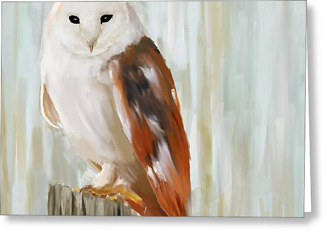 White Birds Greeting Cards - Contemplation Greeting Card by Lourry Legarde