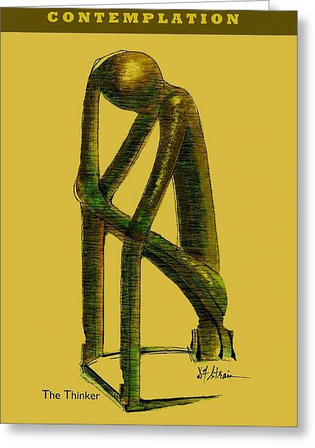 Fineartamerica Greeting Cards - Contemplation   Number 1 Greeting Card by Diane Strain