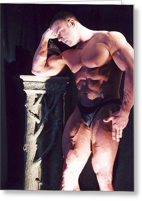 Pecs Digital Greeting Cards - Contemplation of Hercules Greeting Card by Jake Hartz