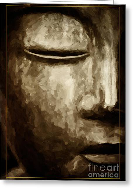 Meditate Greeting Cards - Contemplation Greeting Card by Tim Gainey