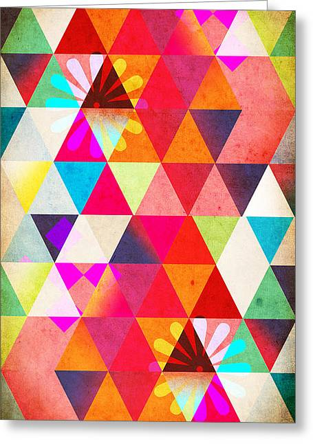 Surreal Geometric Greeting Cards - Contemporary 2 Greeting Card by Mark Ashkenazi