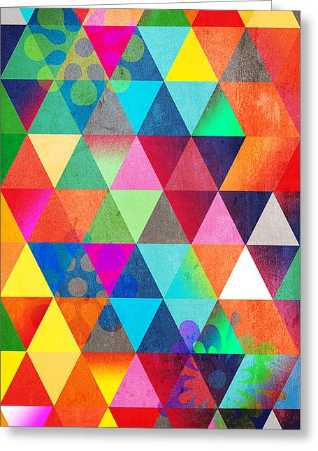 Surreal Geometric Greeting Cards - Contemporary 3 Greeting Card by Mark Ashkenazi