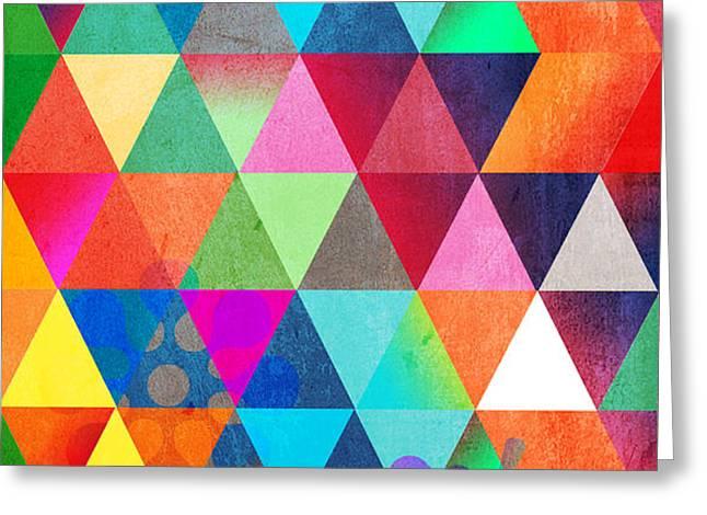 contemporary 3 Greeting Card by Mark Ashkenazi