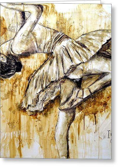 Naturalistic Greeting Cards - Ballerina Greeting Card by Ivan Guaderrama