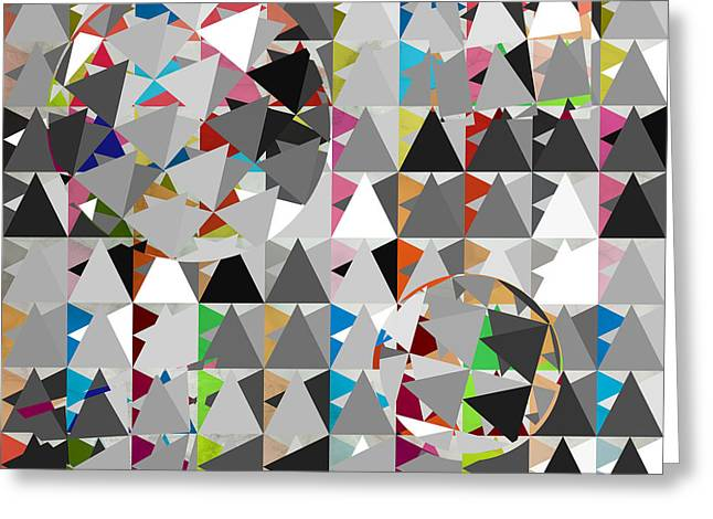 Geometric Shape Greeting Cards - Contemporary Greeting Card by Mark Ashkenazi