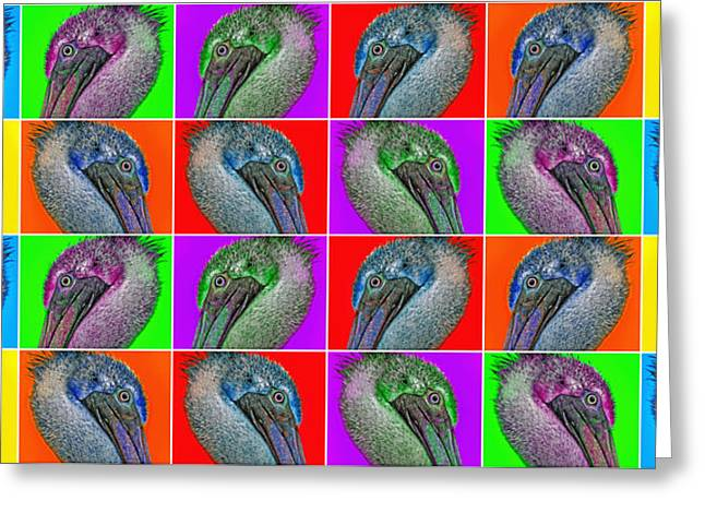 Spectrum Greeting Cards - Contemporary Pelicans II Greeting Card by Betsy A  Cutler