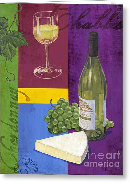 Cabernet Sauvignon Greeting Cards - Contemporary Wine Collage II Greeting Card by Paul Brent