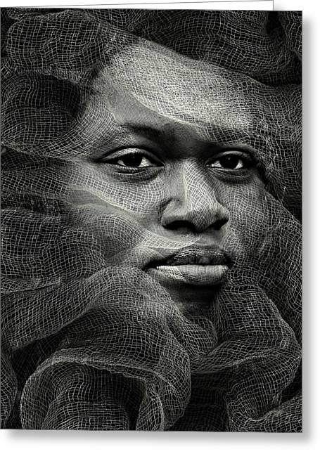 Candid Portraits Greeting Cards - Contempt Greeting Card by Diana Angstadt