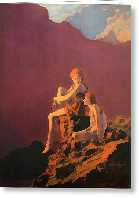 Hari Greeting Cards - Contentment  Greeting Card by Maxfield Parrish