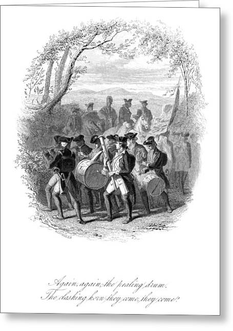 Marching Band Greeting Cards - Continental Army Band Greeting Card by Granger