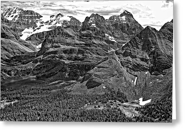 Continental Divide Bw Greeting Card by Steve Harrington