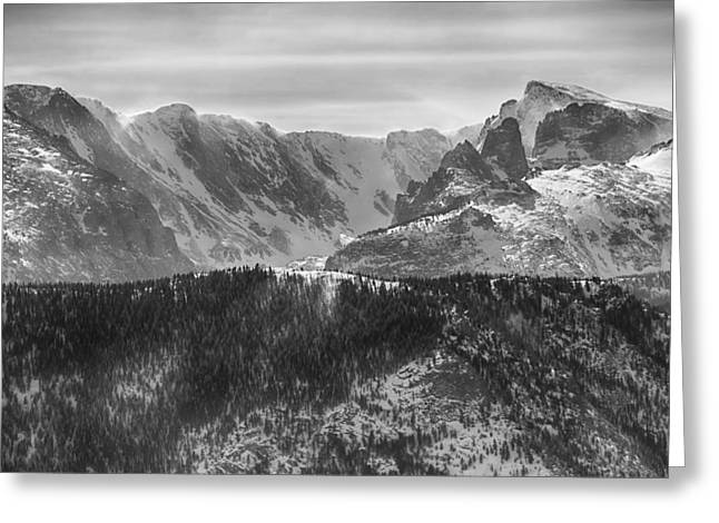 Beautiful Scenery Greeting Cards - Continental Divide CO Rocky Mountains National Park BW Greeting Card by James BO  Insogna