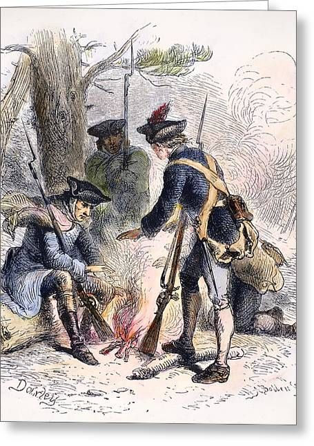 1770s Greeting Cards - Continental Soldiers Greeting Card by Granger
