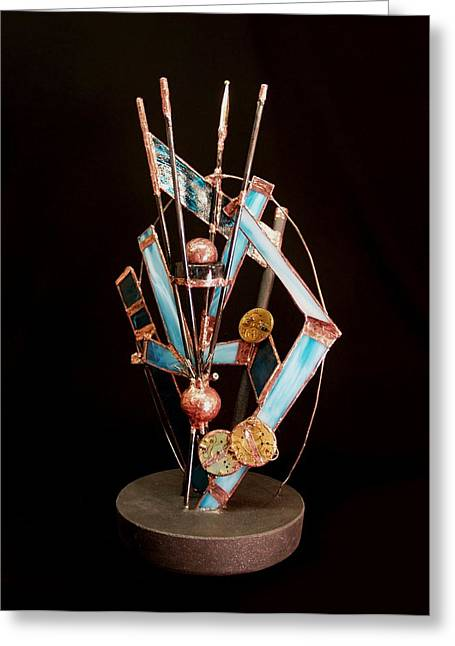 Clock Sculptures Greeting Cards - Continuum Greeting Card by Suzanne Lowry