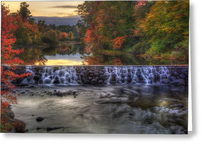 Contoocook River Reservoir  Greeting Card by Joann Vitali