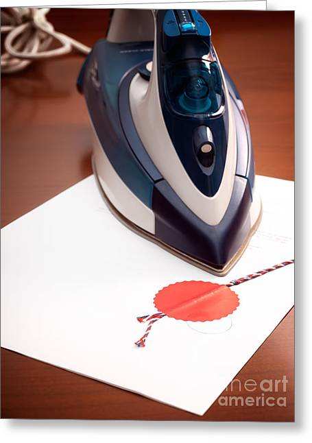 Guarantee Greeting Cards - Contract ironing Greeting Card by Sinisa Botas