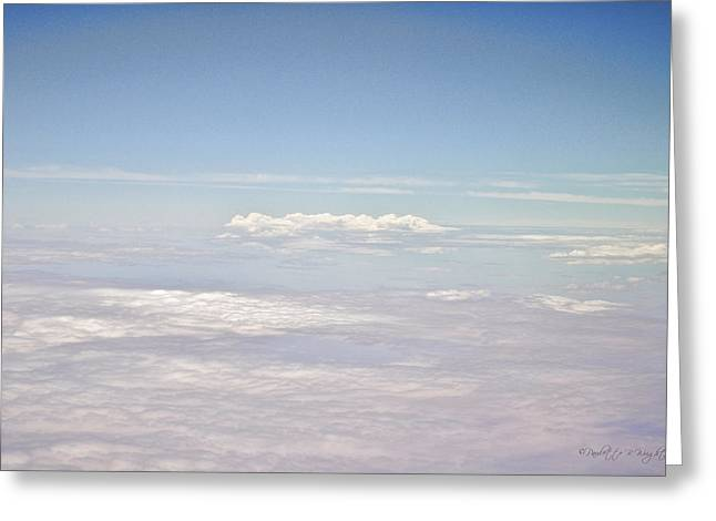 Cabin Interiors Digital Greeting Cards - Contrails and Clouds Greeting Card by Paulette B Wright