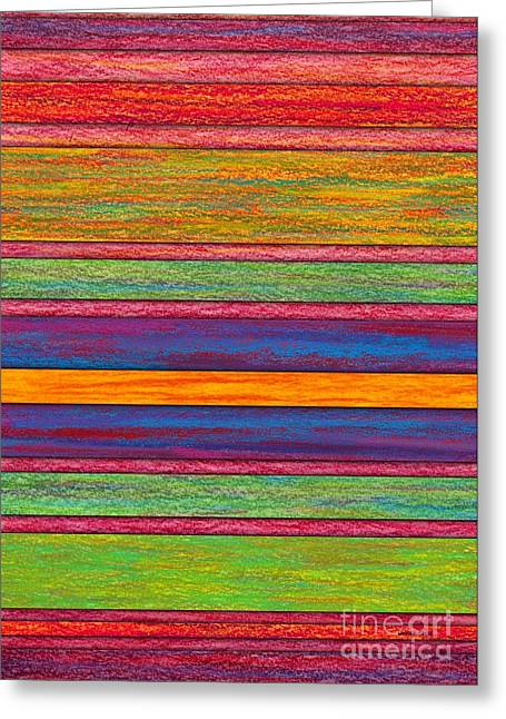 Colored Pencil Abstract Greeting Cards - Contrast Greeting Card by David K Small