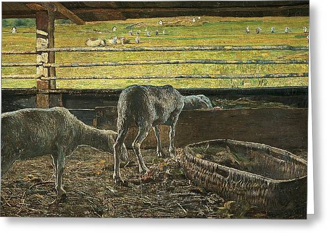 Neo Greeting Cards - Contrast of light Greeting Card by Giovanni Segantini
