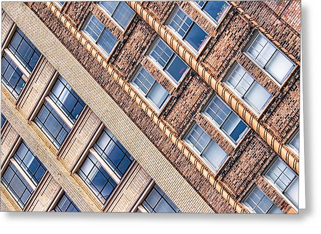 Contrasts - Period Architecture of Asheville North Carolina Greeting Card by Mark Tisdale