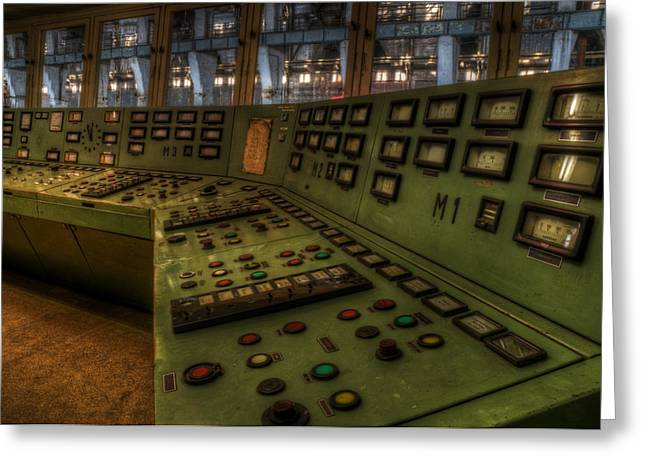 Electrical Device Greeting Cards - Control room 1 Greeting Card by Nathan Wright