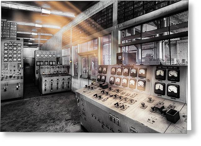 Generators Greeting Cards - Control Room Greeting Card by Dominic Piperata