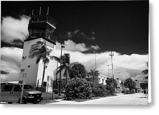 Control Towers Greeting Cards - Control Tower At Key West International Airport Florida Usa Greeting Card by Joe Fox