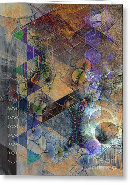 Controlled Mixed Media Greeting Cards - Controlled Chaos Greeting Card by John Robert Beck