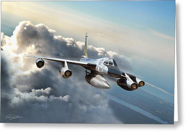 Dramatic Digital Greeting Cards - Convair Classic Greeting Card by Peter Chilelli