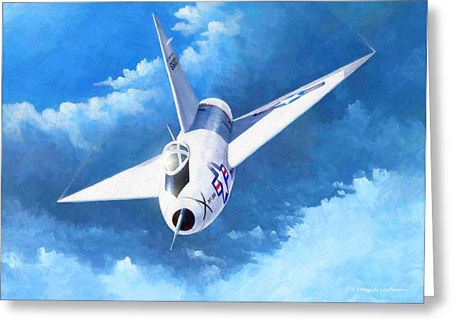 Military Airplanes Greeting Cards - Convair XF-92A Greeting Card by Douglas Castleman