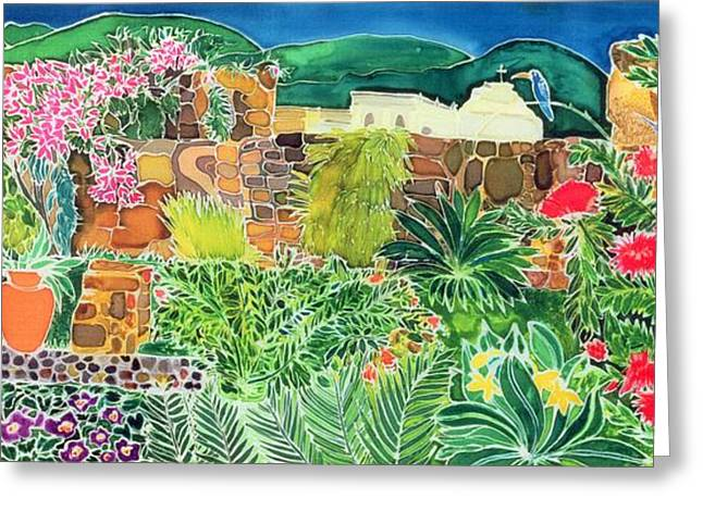 Antigua Greeting Cards - Convent Gardens Antigua Greeting Card by Hilary Simon