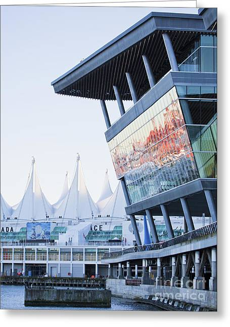 Convention Greeting Cards - Convention Centre and Canada Place Greeting Card by Chris Dutton