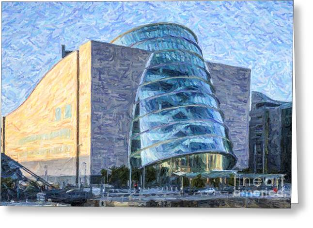 Convention Digital Art Greeting Cards - Convention Centre Dublin Republic of Ireland Greeting Card by Liz Leyden