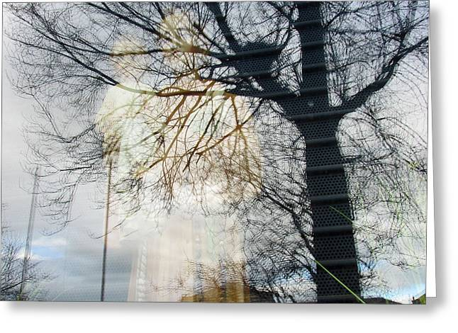 Modern Photographs Greeting Cards - Convergence Greeting Card by Dawn Richerson