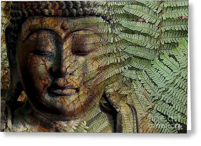 Asian Art Greeting Cards - Convergence of Thought Greeting Card by Christopher Beikmann