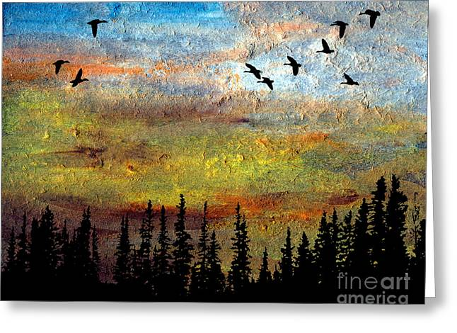 Illuminate Pastels Greeting Cards - Convergence Greeting Card by R Kyllo