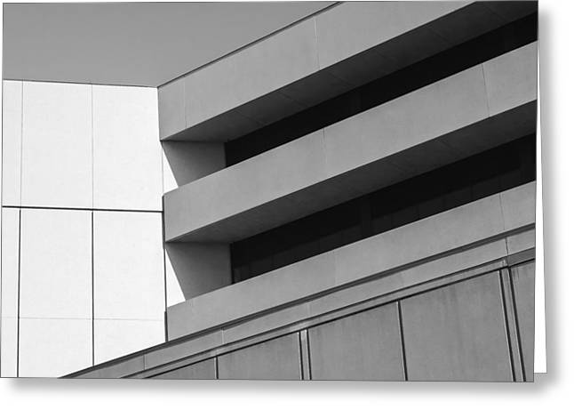 Office Space Photographs Greeting Cards - Converging Lines - Urban Abstracts Greeting Card by Steven Milner